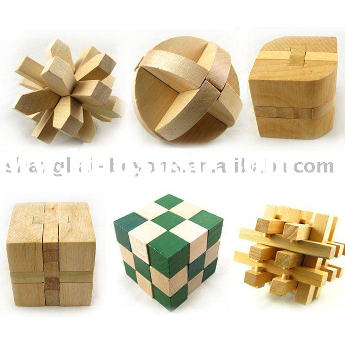puzzle Intelligence Toys,Brain Teaser, wooden toy magic cubes