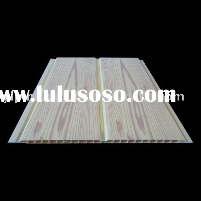 pvc ceiling &wood grain design panel with groove in middle(HD/20)