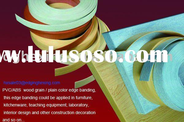 pvc decorative wood grain edge banding with Cherry,Maple, Rosewood,Oak,Teak and so on, edge band tap