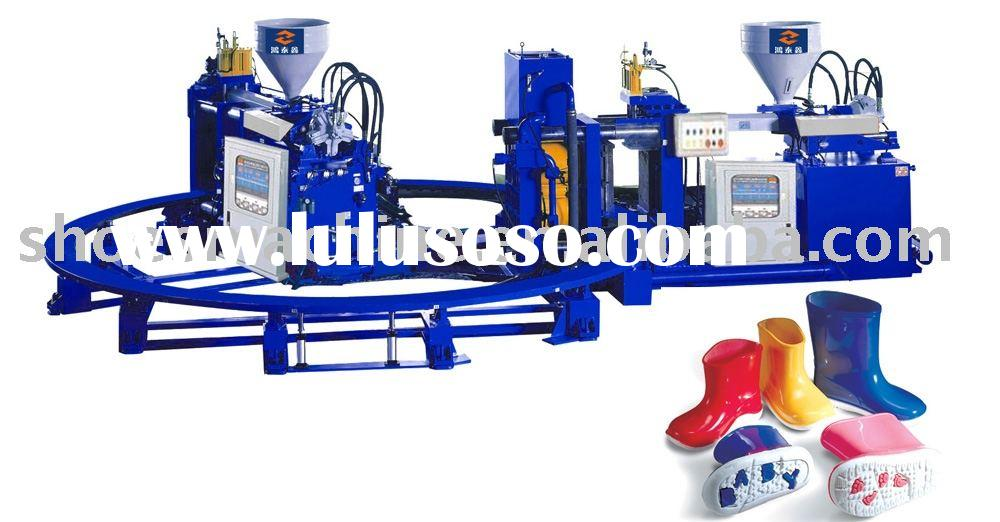 rain shoes machine,rain boots making machine,Rotary Double Color Plastic Rain Boots Injection Mouldi