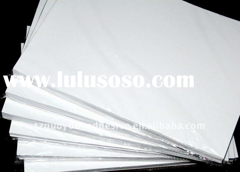 self adhesive semi gloss coated paper Matte finish paper
