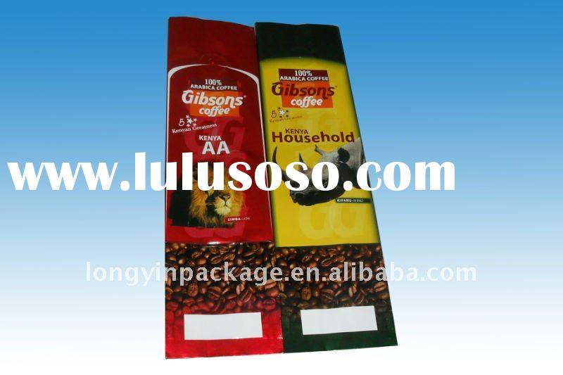 side gusset coffee bag with vavle 250g 500g 1kg/coffee packaging bag