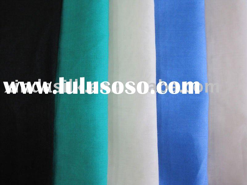 silk cotton voile fabric with plain dyed