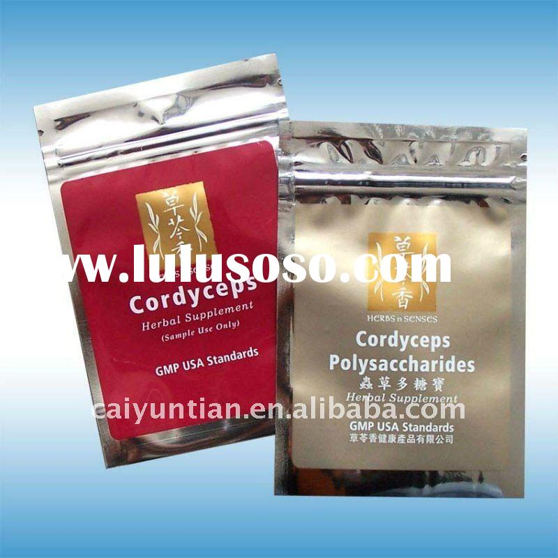 silver aluminium foil potpourri laminated pouch for packing with zipper