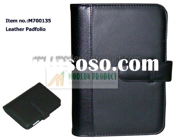 soft leather cover of carriable notebook