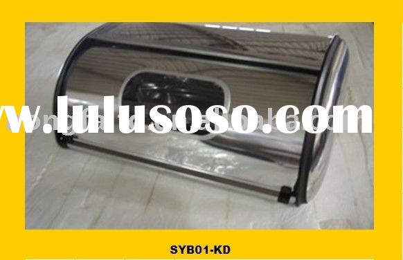 stainless steel bread box with window