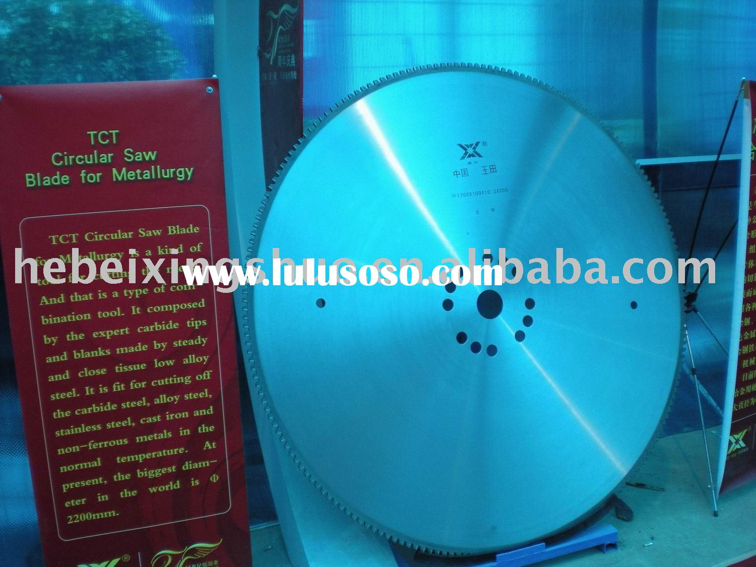tct saw blades for cutting steel and iron