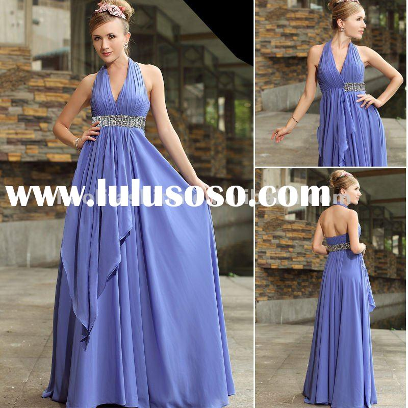 top sale charming elegant light purple evening dress fashion 2012