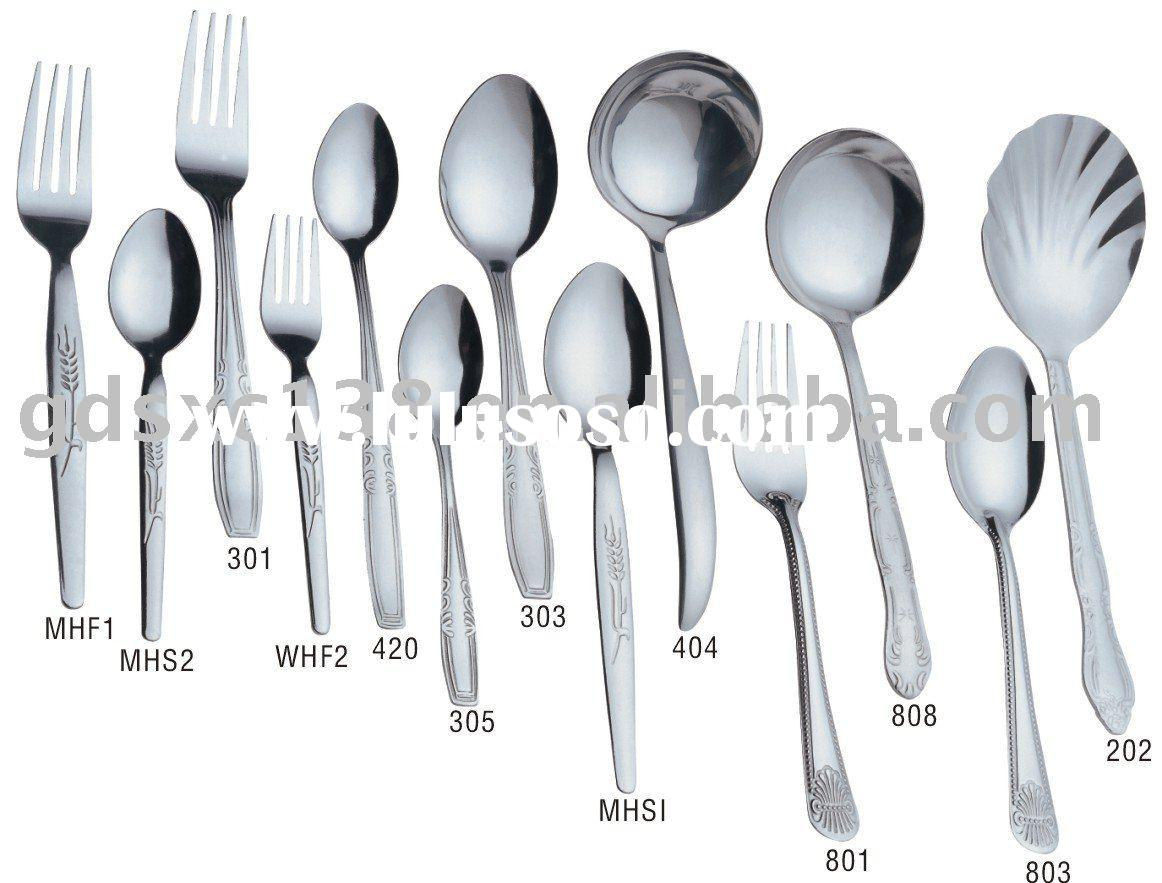 tunble stainless steel spoon and fork