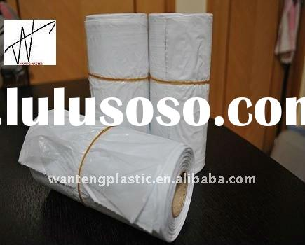 white garbage bags in roll