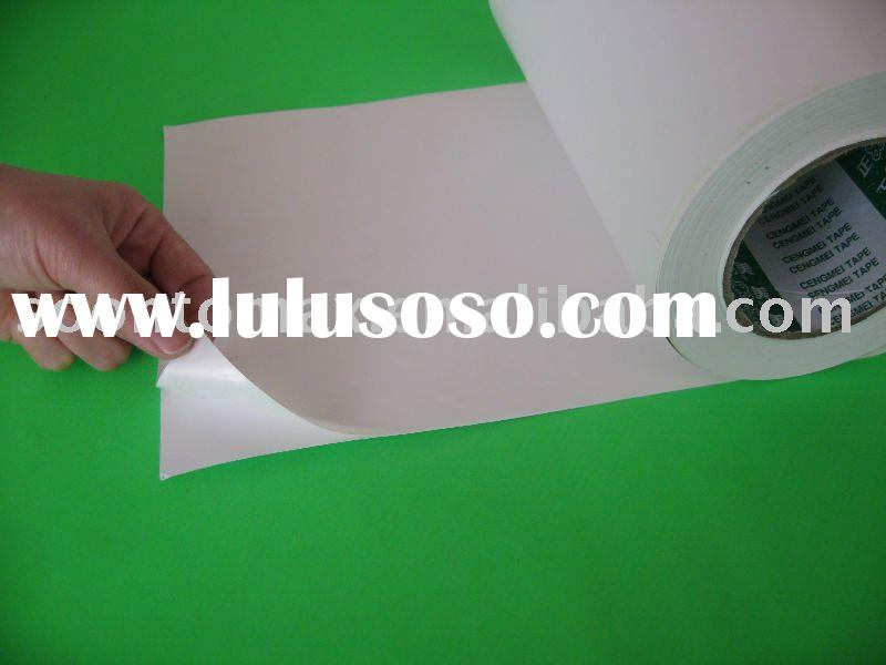 wood-free self adhesive paper label for pringting in reel