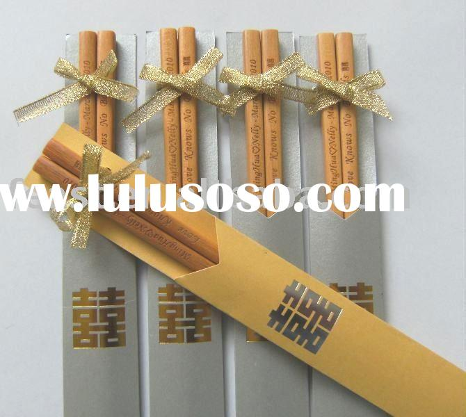 wooden chinese style chopstick for wedding gift