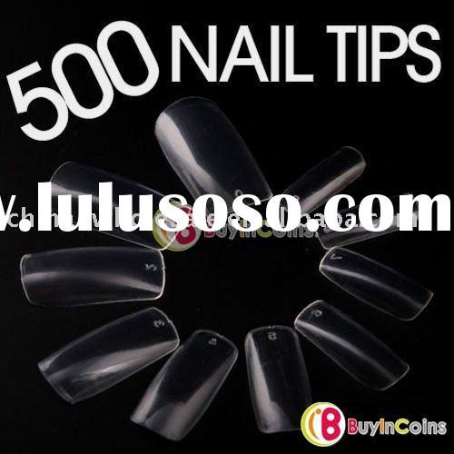 500 Clear False French Acrylic Fake Nail Art Tips Gel Free Shipping Wholesale