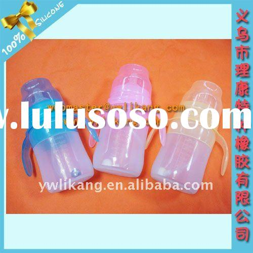 BPA free Baby Silicone Feeding Bottle