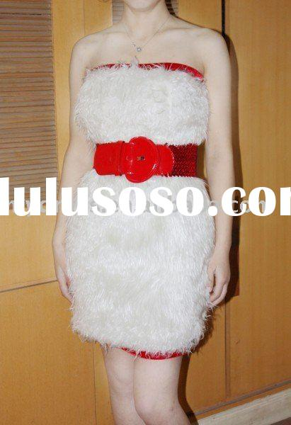Beautifly Christmas White Party Dresses A-09067