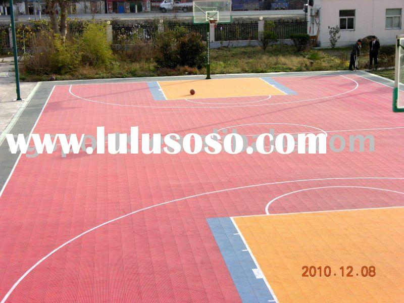 2011 new colorful outdoor barbecue parties stackable for Basketball court flooring cost