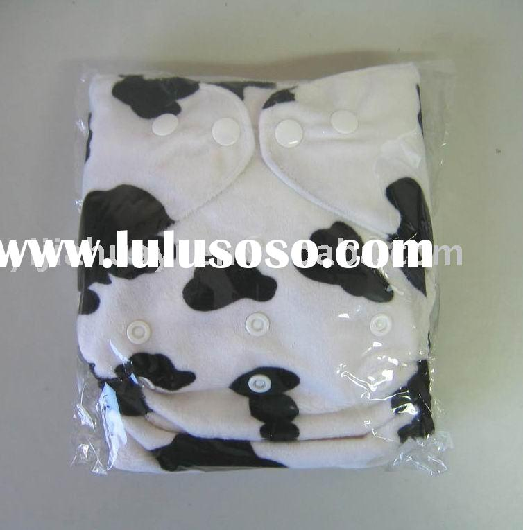 Cow Print Black and White Cloth Baby Diapers