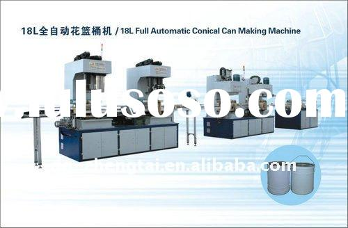 Full Automatic Metal Tin Can Making Machine For 18 L Conical Can