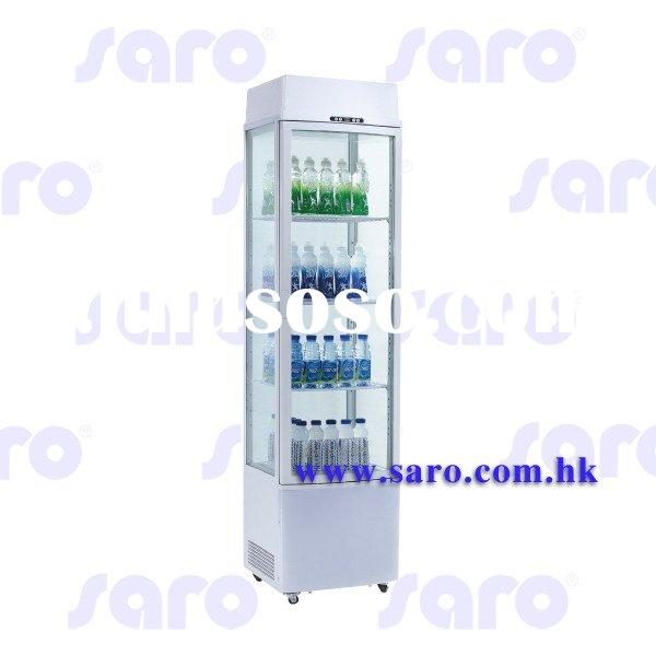 Refrigerated Showcase Curved Glass Door Series, with Light Box on Top, 235L, AB194