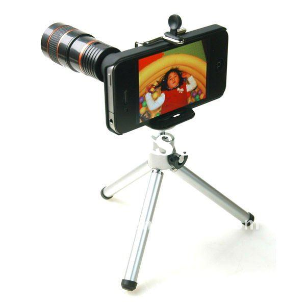 Smart Mobile Phone Telescope/ Zoom Camera Lens (8X Zoom Lens with Tripod)