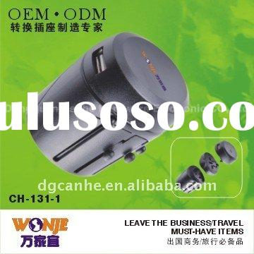 Swiss Travel Adapter,with USB Charger (131-1)