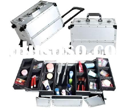 Wheeled Aluminum Makeup Trolley Case Nd3 For Sale