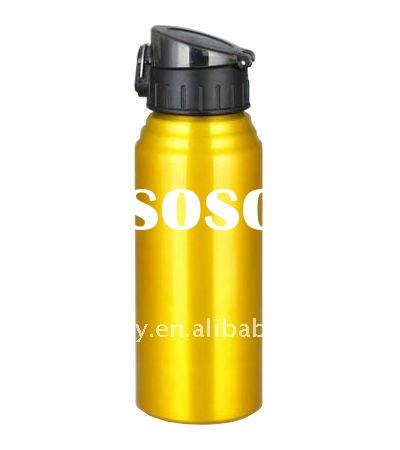 Wide mouth aluminum sports bottle