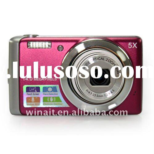 """Winait's 14MP SONY CCD digital camera with 5X optical zoom and 3""""touch panel"""