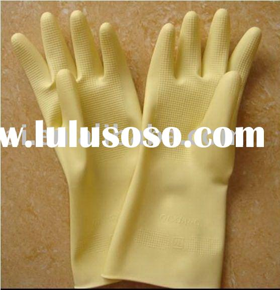 Yellow Latex Demestic Gloves