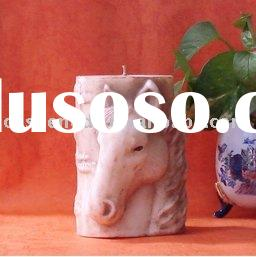 horse head candle, pillar candle, aromatic candle, craft candle, candles