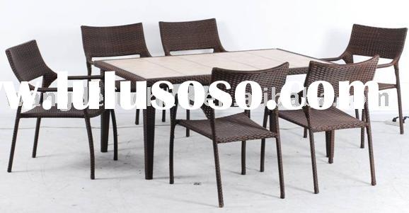outdoor wicker furniture table and chair set(wjk-tc-26)