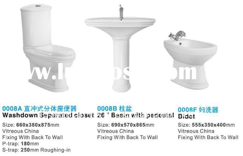 sanitary ware with bathroom set in ceramic with TOTO design