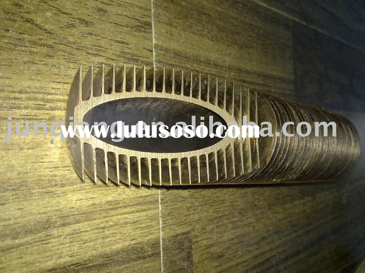spiral extruded finned tube made of aluminum and copper