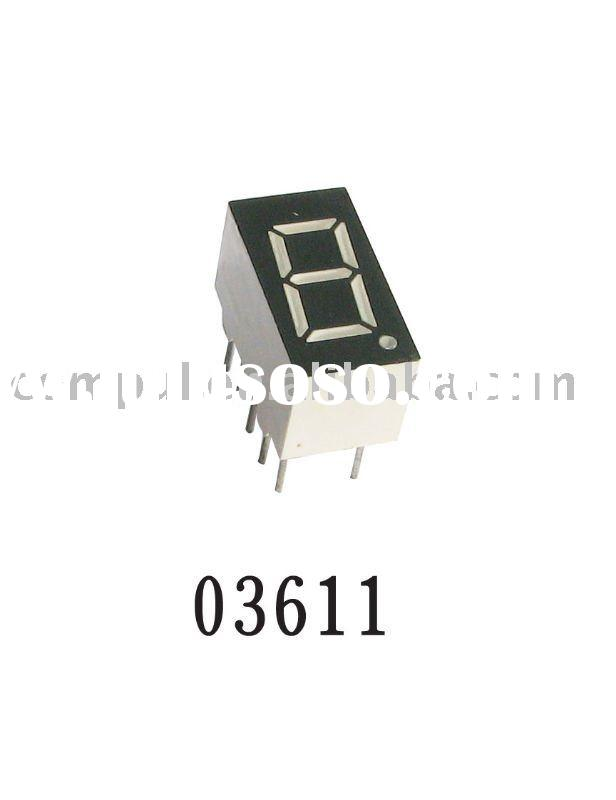 0.36 Inch 7 Segment LED Display with Low Power Consumption