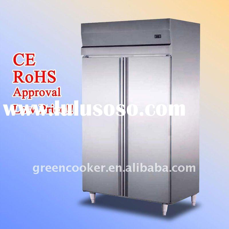 1000 liter commercial kitchen refrigerator stainless steel body kitchen use CE RoHS