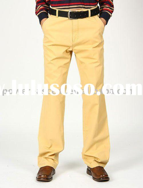 100% Cotton Twill Men's Casual Pants