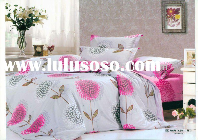 100%cotton reactive printed bedding set / bed cover