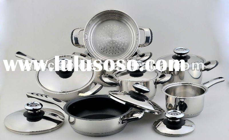 13 pcs/set stainless steel cookware w/thermal control knob