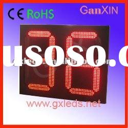 16inch semi-outdoor red led large digital display