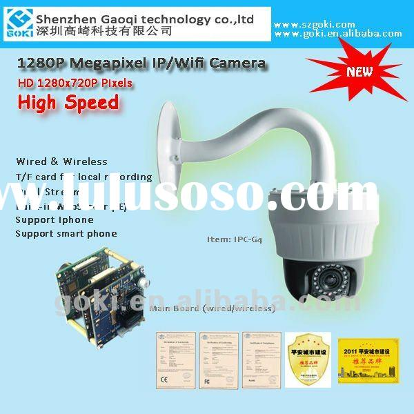 1 megapixel high speed PTZ Dome High definition IP wired wireless wifi dome security camera with SD
