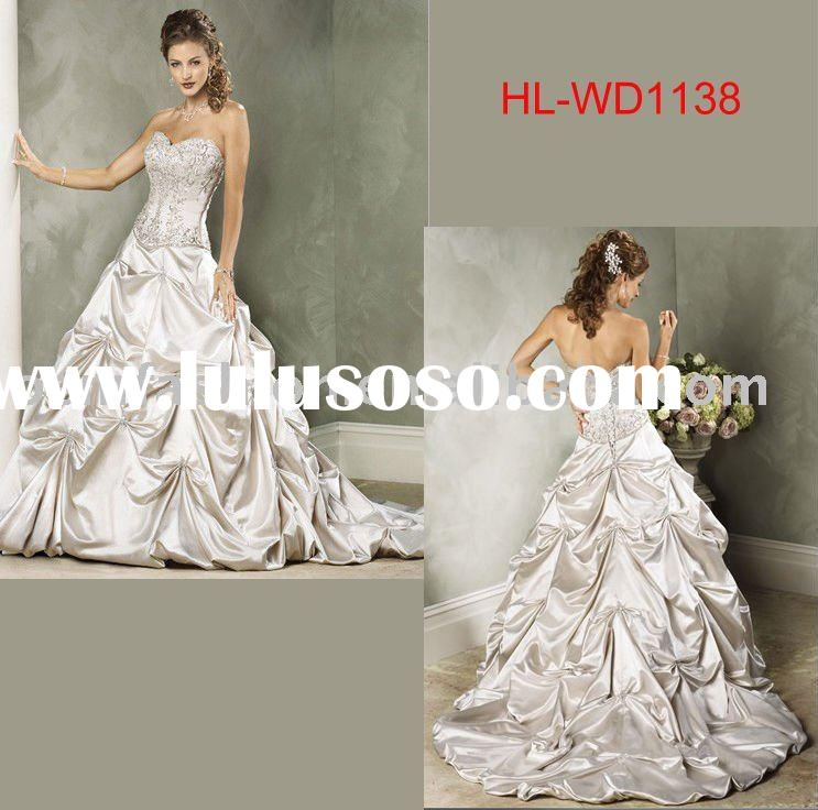 2010 new arrival wedding dress HL-WD1138
