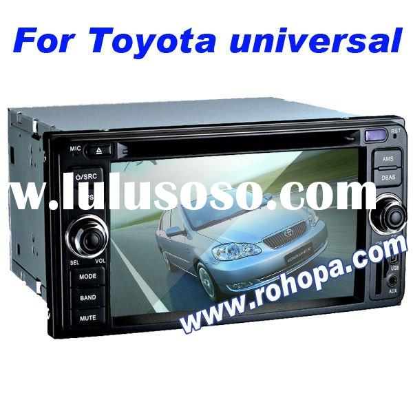 2011 Best Seller 2 Din 6.2 Inch Car Radio DVD CD GPS Special for Toyota Universal old Corolla with 8