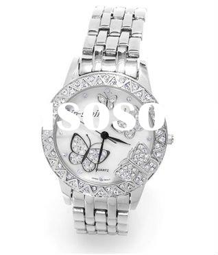 2011 Fashion stainless steel butterfly watch for women