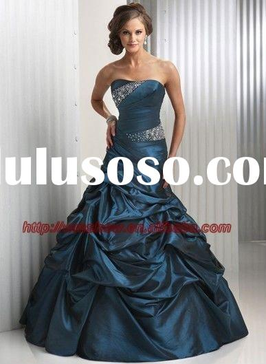 2011 Latest Design Beaded Ball Gown Cheap Prom Dresses