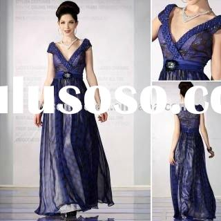2011 New Arrival Formal Deep V-neck Prom Pregnant Women Dresses 30328 / MOQ1PCS