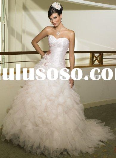 2011 New Ruffle Tulle Skirt Wedding Gowns