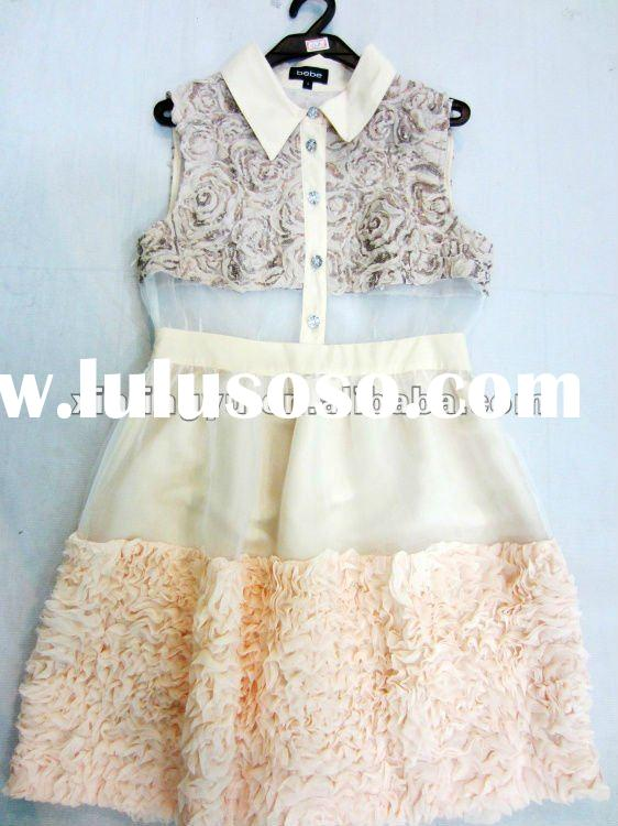 2011 stylish Princess Sleeveless girl Dresses/women dress,New Design Women Cotton Dresses/skirt