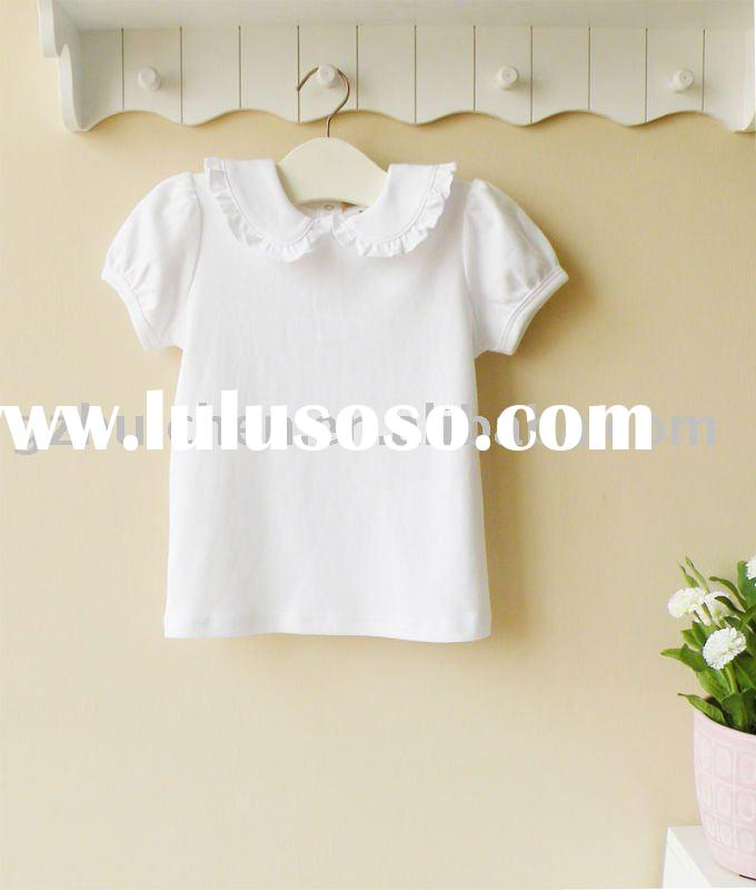 2011 summer mom and bab baby clothes 100% cotton white short sleeve t-shirt