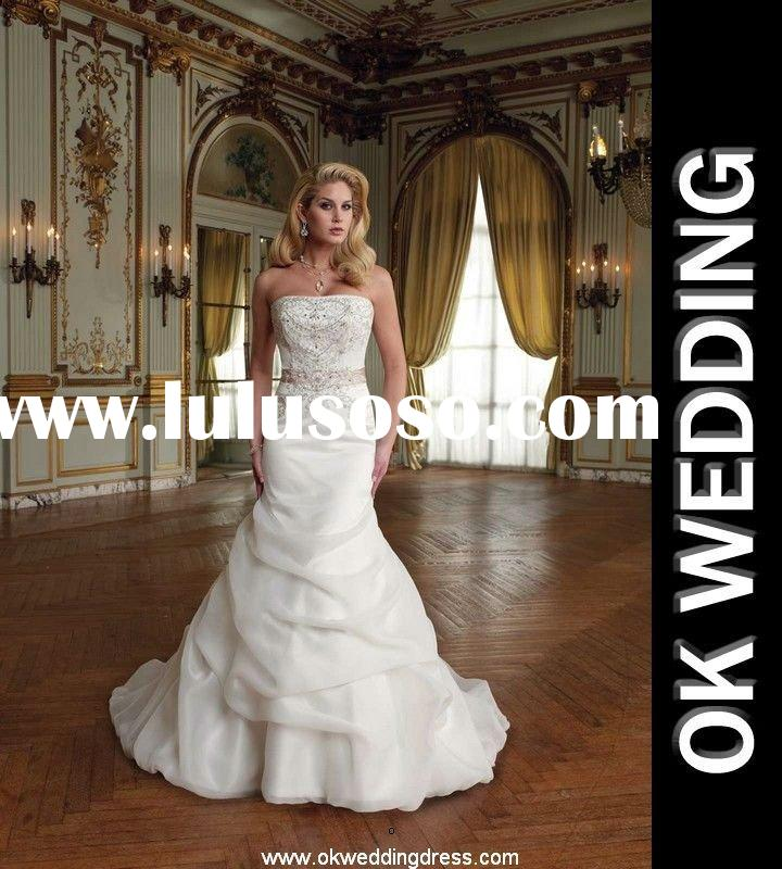2012 Discounted designer gorgeous Noblest fluffy embroideried wedding gowns