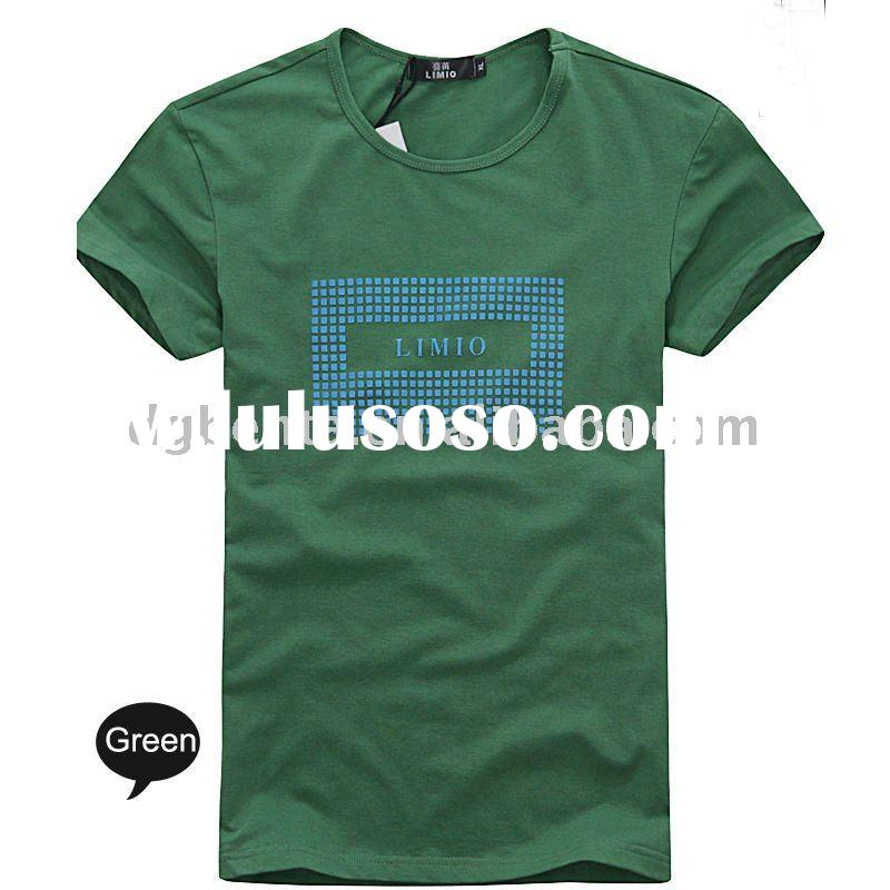 2012 Fashion Summer Plain Casual Man's T-Shirts Printing